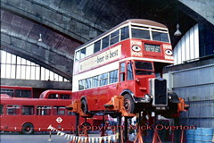 Preserved 1946 Guy Arab  G351 seen at Stockwell 1983 openday (sms88aec) Tags: bus guy arab 1983 preserved 1946 openday stockwell g351