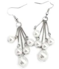 5th Avenue White Earrings P5610A-5