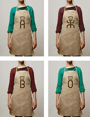 Identity of Atelie eklerov. Linen Aprons (veronika_kokurina) Tags: illustration bag advertising logo design cafe tasty identity kiev branding eclair confectionery kokurina