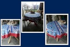 toalha nutica (ceciliamezzomo) Tags: blue red sea house praia beach kitchen azul table mar casa handmade navy vermelho toalha cloth tablecloth patchwork cozinha marinho nautico martimo