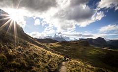 Hiking at dusk (Allan Eagle) Tags: chile patagonia mountains trek canon landscape dusk walk fitzroy hike dslr elchalten 650d 1585mm miradordecondures