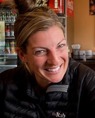 Caramel Macchiato (nevadoyerupaja) Tags: winter portrait usa cold coffee girl smile female bread cafe warm megan jackson bakery brunch wyoming childrensmuseum meganpeterson nikonp7100 notalwaysskiing