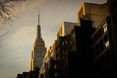 Empire State Building at Sunset (Jeffrey) Tags: street newyorkcity winter newyork streets building buildings manhattan midtown empirestatebuilding february kipsbay 2015