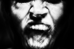 anγer (Nassia Kapa) Tags: portrait blackandwhite bw face contrast mouth dark eyes tears noir expression teeth voice anger faceless strong unusual rough emotions loud exposed demons uncommon nassiakapa