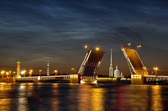 St Petersburg, Russia (vagant salsal) Tags: bridge summer water architecture night clouds stpetersburg russia dusk moscow saintpetersburg embankment noctilucentclouds whitenights urbanscene nevariver peterandpaulcathedral