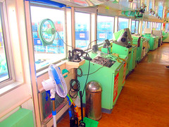 Navigational Equipment (Irvine Kinea) Tags: world voyage travel bridge cruise pope station saint ferry john paul island restaurant cafe stem cabin ramp asia ship fiesta state desk room horizon philippines arcade vessel super front tourist class hallway lobby deck gaming alleyway tatami vip trips hippo mast value suite accommodation tours stern propeller console augustine economy navigation charging rudder nn mega negros ats aft forecastle amenities 2go nenaco