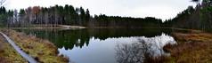 A panorama of the small Lake Kahtoilampi (Hmeenlinna, 20111112) (RainoL) Tags: november panorama lake reflection eh finland geotagged fin bog stitched hmeenlinna 2011 hme tavastehus kantahme 201111 etelhme 20111112 tavastland geo:lat=6100466600 geo:lon=2440435600 kahtoilammi