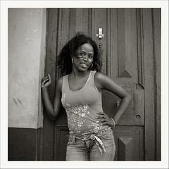 Seven Days in Havana (oscarparadela.com) Tags: blackandwhite black film girl beauty analog vintage skin portait havana cuba bronica hp5 habana ilford sekonic sqai zenzanon ps80
