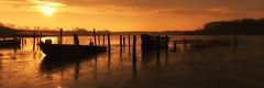 Sunrise over the fishing port