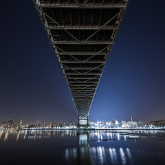 Under Robert F. Kennedy Bridge (vincent.limshowchen) Tags: longexposure sunset newyork unitedstates queens astoria astoriapark robertfkennedybridge queensscape