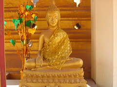Golden Buddha in Pha That Luang