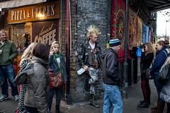 Camden Punk Co. (Colour) (Gary Kinsman) Tags: london canoneos5dmarkii canon5dmkii canon28mmf18 camdentown camdenlockmarket nw1 market candid streetlife streetphotography punk camdenpunk stolenmoment mowhawk camden 2011 people person