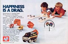 1976 Drag Vans Toy Advertisement Hot Rod November 1976 (SenseiAlan) Tags: november hot toy drag advertisement rod vans 1976