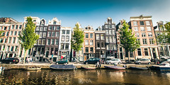Street of Amsterdam (Nick Sloter) Tags: amsterdam nederland holand architecture facades nikond5100 nikon sigma1020mm sigma water cannal river boats windows bluesky blue sky summer holland holiday trip tourism