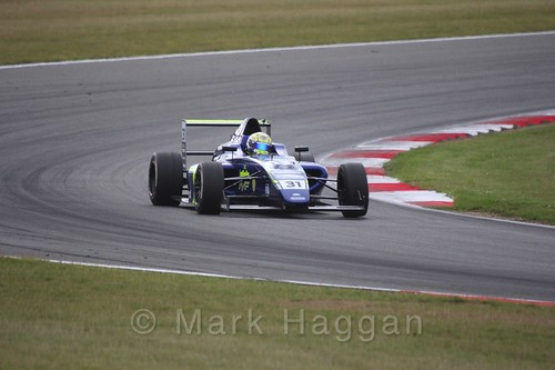 Max Fewtrell in British Formula 4 during the BTCC 2016 Weekend at Snetterton
