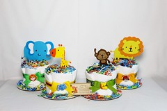 Zoo Animals Baby Diaper Cake Shower Gift Centerpiece Boys Girls (4) (Dianna's Diaper Cakes) Tags: baby diaper cakes shower centerpieces gifts boys girls neutral diannas decoration