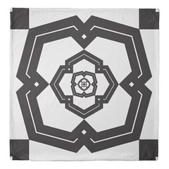 """""""poly bloom"""" black & white queen size duvet cover (CMY-KEY) Tags: home design pattern graphic cameron decor bedding comfy patterndesign prather chicagodecor"""