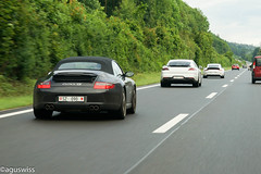 Regular morning traffic (aguswiss1) Tags: motion moving highway 911 porsche carreras carrera gts 991 997 panamera 9912 991ii porschepanameragts997carreragts9912