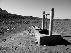 DRINK WATER (marcobertarelli) Tags: drink water black white contrast desert life live human light hot thirsty shadows pozzo sun day sand dust secco prosciugato