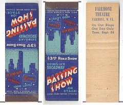 Fairmont Theatre Matchbook (neshachan) Tags: cinema matches fairmont vaudeville matchbook fairmontwv matchcover passingshow scibilia fairmonttheatre fairmonttheater