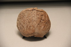 Clay Seal Impression from Archaic Period of Sumer, 2900-2340 BC (Gary Lee Todd, Ph.D.) Tags: france louvre paris ancient neareast