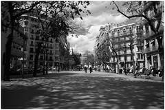 Quartiere Eixample (cicciobaudo) Tags: white black strada bianco nero barcellona spagna catalogna eixample