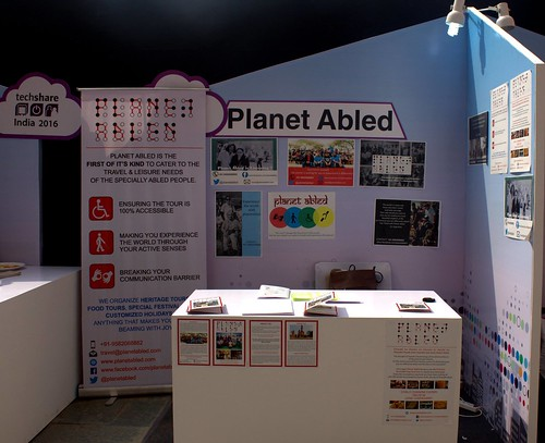 Planet Abled Team at Techshare 2016 in New Delhi:Planet Abled's exhibit at Techshare 2016.