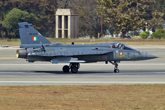 Operational (FoxbatOne) Tags: india airplane flying lca outdoor aircraft aviation indian 45 vehicle kh airforce bharat daggers sanders squadron sena tejas sqn indianairforce aeroindia vayu smokewinders
