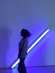 At the SF MoMA (LaNea T.) Tags: museumofmodernart sister neonlights sanfrancisco moma