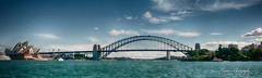 Sydney Coathanger (Harbour Bridge) (Manni750) Tags: sydney harbour bridge coathanger house sea water boat ferry opera sky clouds