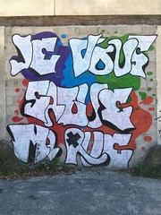 17-07-16 Ponthierry, Seine-et-Marne (marisan67) Tags: iphone5se 365 rue 2016 iphonegraphy street iphonographie pola streetphoto streetart clich photographie iphone murs instantan iphonographer polaphone 365project detail graffiti iphoneographie dtail photo iphonography