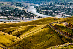 Confluence (Culinary Fool) Tags: palouse usa washington bridge lewiston water idaho 2016 hill clearwaterriver road wa brendajpederson travel curve photography lewistonhill snakeriver roadtrip culinaryfool may id travelwa 2470mm28