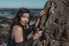R3D02838 (r3ddlight) Tags: asian asianwoman a6300 sonya6300 sonyphoto portrait hmong woman girl sexy beach ocean monterey rock