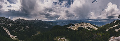 Voews from Vogel (xDiscobobx) Tags: panoramas daytime slovenia sheep cows bohinj mountains outdoors nature bright vogel clouds
