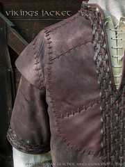 Viking Leather Jacket (inspired Ragnar Lothbrok) (SvetliySudarWorkshop) Tags: brown leather norway belt clothing pattern order pieces handmade craft medieval jacket fantasy pouch stitches plates cloth custom vikings aging weaving scandinavian larp leatherwork sleeves tracery shabby weathering horne goatskin larpcostume ragnarlothbrok lothbrok svetliysudarworkshop svetliysudar