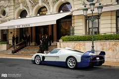 Maserati MC12 (Raphal Belly Photography) Tags: rb raphal monaco principality principaut mc montecarlo monte 98000 carlo hotel de paris french riviera south france luxury supercar supercars spotting car cars voiture automobile raphael belly canon eos 7d photographie photography casino maserati mc12 12 white blanc blanche bianco bianca blue bleu bleue