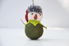 Christmas ornament, Peter Pan (noristudio3o) Tags: noristudio peter pan green christmas ornament cute kawaii decoration home decor handmade handcrafted needlefelting felting felt felted wool