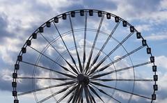 The Big Wheel on Place de la Concorde (Pravin Yarolkar) Tags: ferris wheel ride paris blue sky circle outdoor canon europe evening street city cityview pariscity parislove