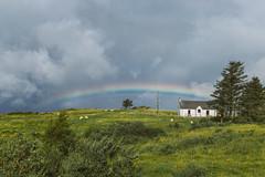 Isle of Skye Rainbow (Tim Bow Photography) Tags: timbowphotography travelphotography scotland landscape scottishlandscape beautifullandscape canonukphotography traveluk colour color canon6d timboss81 isleofskye weather green landscapesofskye skye cottage scottishcottage isleofskyerainbow rainbow clouds ominous