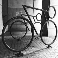 Race! (frankfarm) Tags: bicycling bikeracks urbanplanning sculpture