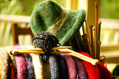 Knit & Felted Hats (Karen McQuilkin) Tags: knitted feltedhats coldweathergear winter wool thick rolledbrim karenmcquilkin