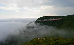 Clouds In The Cape Breton Appalachians (TheNovaScotian1991) Tags: clouds mist fog appalachianmountains novascotia canada victoriacounty nikond3200 kitlens 1855mm trees mountains morning capebretonisland mountaintop