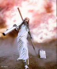 N.n. (thanks for visiting my page) Tags: jesus cross edit religion streetartistt bertmeijers bmeijers