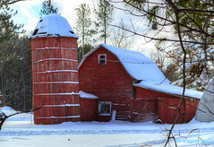 Old Wooden Silo (newagecrap) Tags: snow wisconsin barn rural farm rustic barns farms nikond3200 woodcounty snowscapes wisconsinfarm centralwisconsin woodcountywisconsin wisconsinbarns wisconsinbarn rusticwisconsin newagecrapphotography november2014 bironwisconsin