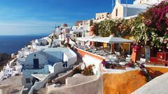 Santorini, Thira 01 (Kenny Humby) Tags: travel blue sky color greek aegean hellas santorini greece grecia griechenland    grce oia cyclades mykonos thira fira grcia thera griekenland yunanistan  grekland kreikka    grkenland grgorszg   ecko