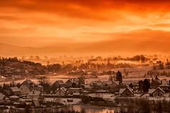 Morning glory (Grzesiek.) Tags: morning sky panorama architecture dawn poland filter poranek architektura niebo atdawn kamiennagra lowersilesia