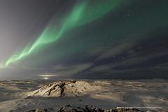 Aurora waves over Hvassahraun. (Kjartan Guðmundur) Tags: sky snow stars lava iceland nightscape ngc ísland northernlights auroraborealis norðurljós canoneos5dmarkiii tokinaatx1628mmf28profx kjartanguðmundur