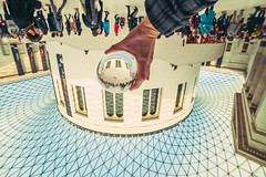 British Museum, London | Glass Ball Project #364/365 (A. Aleksandraviius) Tags: uk england people london glass oneaday museum ball project idea nikon crystal creative photoaday british 365 f28 pictureaday crystalball glassball 14mm lonond project365 samyang 365days d700 nikond700 364365 samyang14 samyang14mmf28ifedumc 3652014
