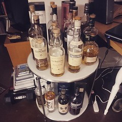 """""""Peated scotch on the bottom, non-peated on top."""" – Mike Moschella #dtla"""