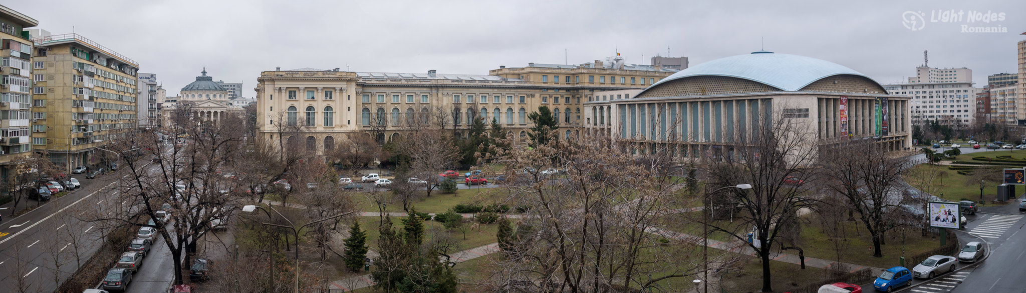 Sala Palatului, București, Romania with GX7 and 20mm
